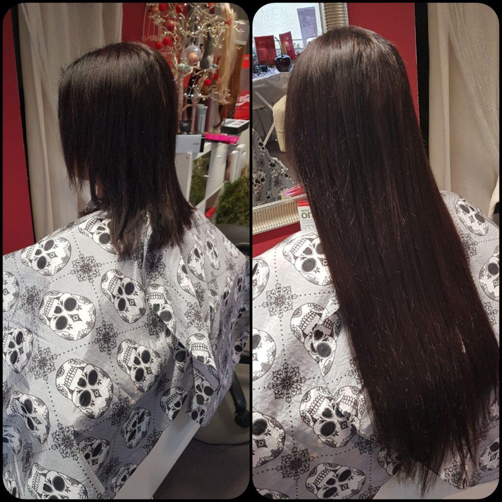 Extensions de cheveux bandes adhésives